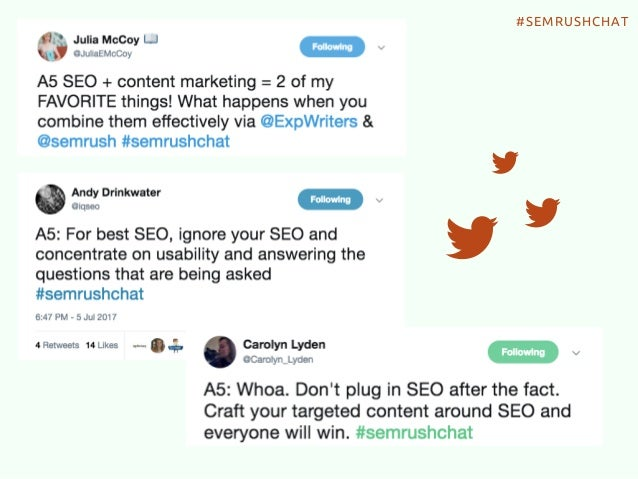 How To Build A World-Class Content Marketing Plan #Semrushchat