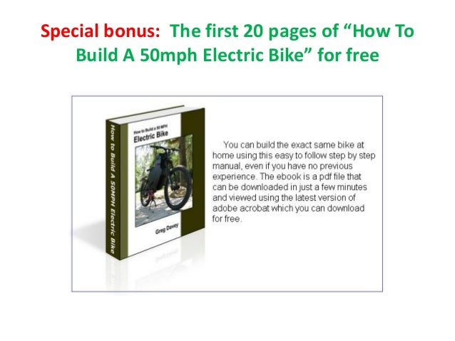 How to build a 50mph electric bike pdf shows detailed plans for build build a 50mph electric bike for free 34 solutioingenieria Image collections