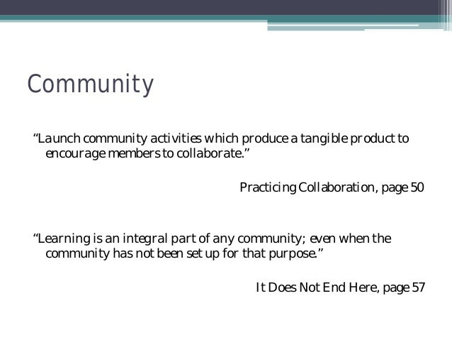 How To Build Better Learning Communities Quotes Beauteous Quotes About Community