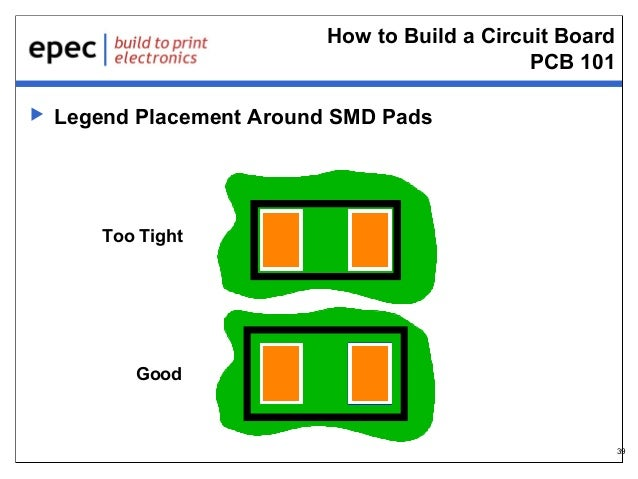 How to Build a Circuit Board PCB 101   Legend Placement Around SMD Pads  Too Tight  Good  39