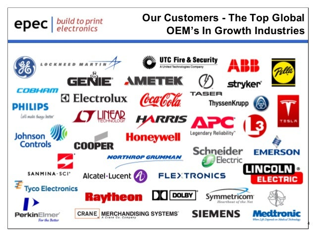 Our Customers - The Top Global OEM's In Growth Industries  4