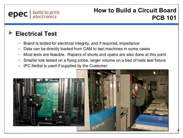 How to Build a Circuit Board PCB 101   Electrical Test – – – – –  Board is tested for electrical integrity, and if requir...