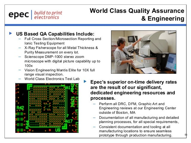 World Class Quality Assurance & Engineering   US Based QA Capabilities Include:  – Full Cross Section/Microsection Report...