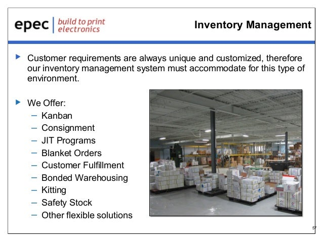 Inventory Management   Customer requirements are always unique and customized, therefore our inventory management system ...