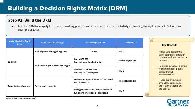 Decision Rights Matrix Template Gallery Template Design