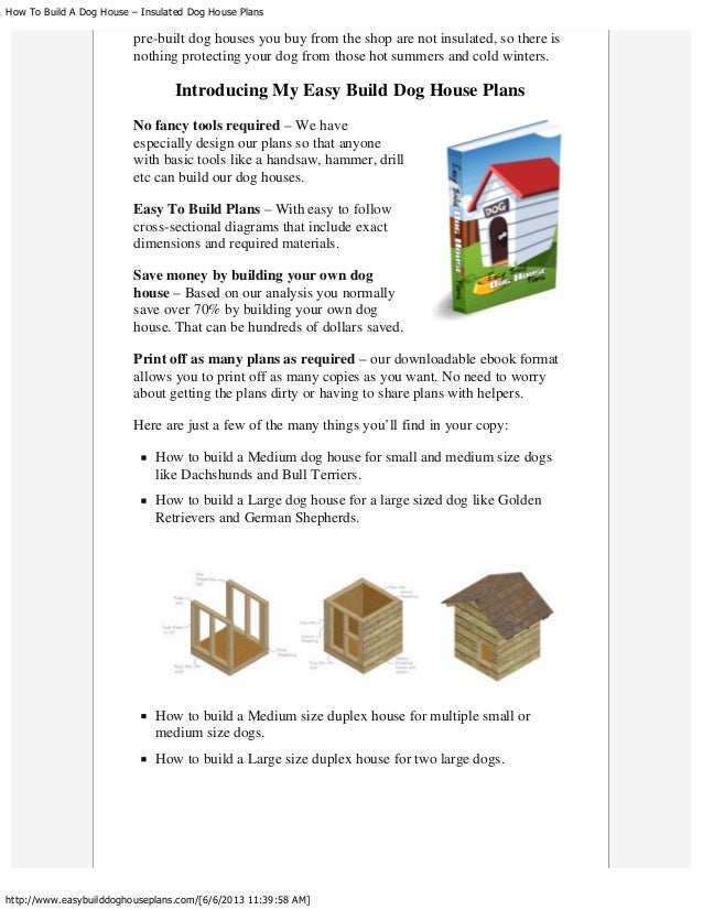 How to build a dog house – insulated dog house plans