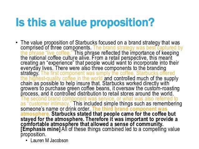 starbucks value proposition