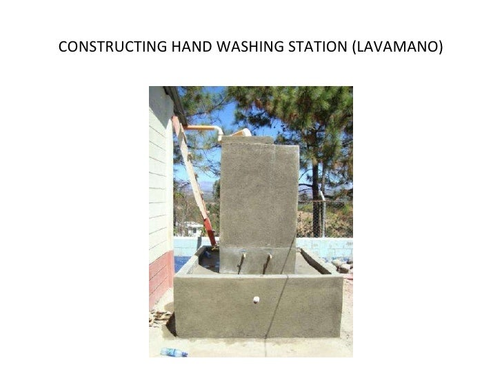 CONSTRUCTING HAND WASHING STATION (LAVAMANO)