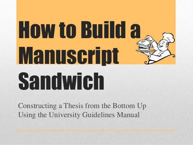 what is a manuscript style thesis If the thesis or dissertation is divided into manuscript style, the main abstract should be inclusive of all manuscript content included in the document each manuscript.