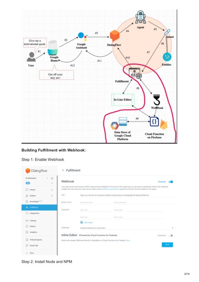How to build and publish a google home app with dialogflow