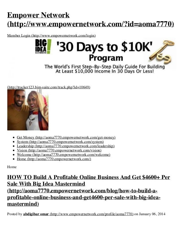 Empower Network (http://www.empowernetwork.com/?id=aoma7770) Member Login (http://www.empowernetwork.com/login)  (http://t...