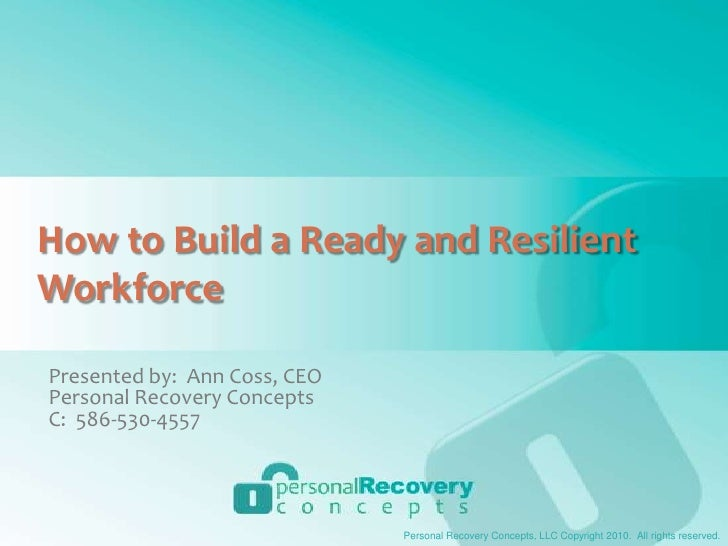How To Build A Ready And Resilient Workforce