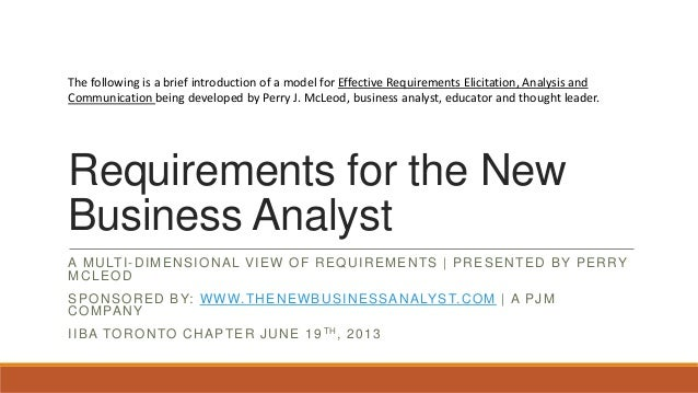 The following is a brief introduction of a model for Effective Requirements Elicitation, Analysis and Communication being ...