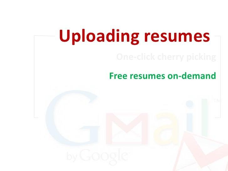 uploading resumes one click cherry picking 16 - Resume Database Free