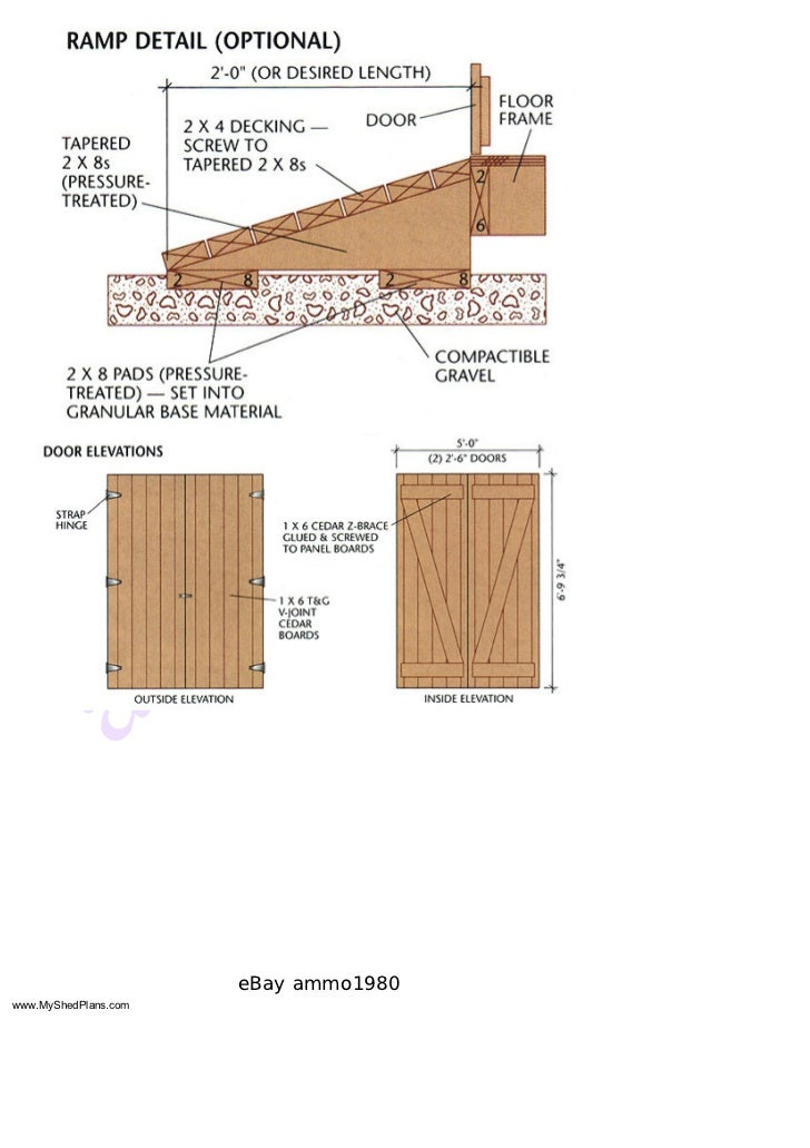 how to build a shed roof step by step