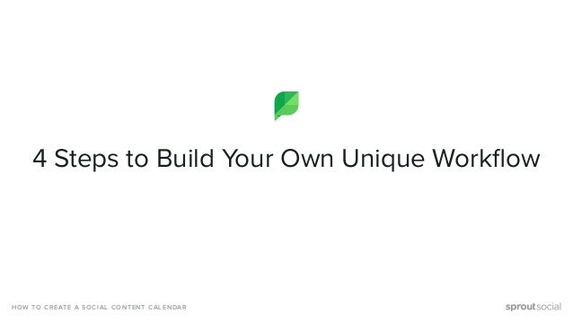 4 Steps to Build Your Own Unique Workflow HOW TO CREATE A SOCIAL CONTENT CALENDAR