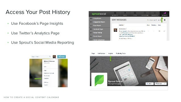 Access Your Post History • Use Facebook's Page Insights • Use Twitter's Analytics Page • Use Sprout's Social Media Reporti...