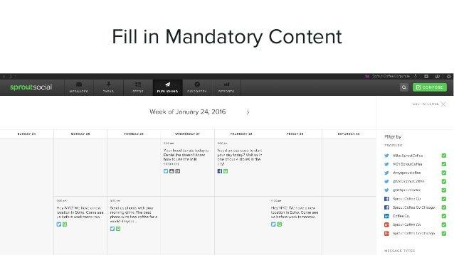 HOW TO CREATE A SOCIAL CONTENT CALENDAR Version 2 of the Publishing Calendar