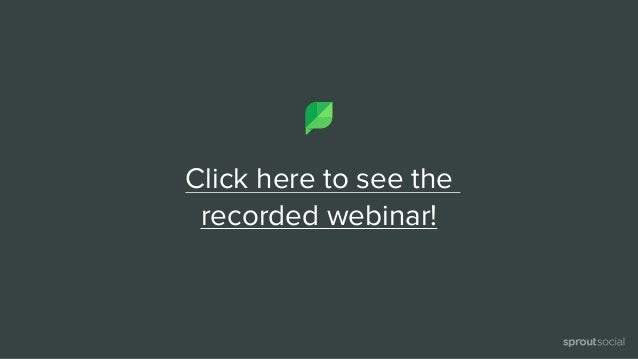 Click here to see the  recorded webinar!