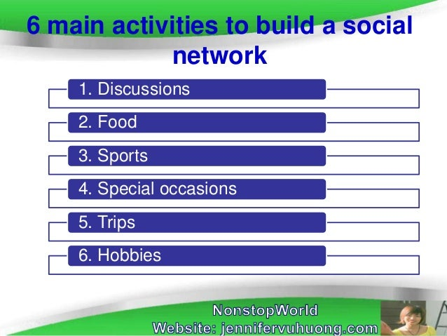 How to build a social network Slide 2