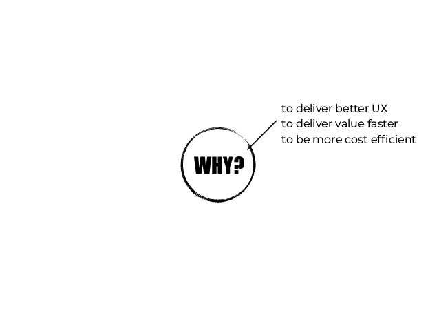 we want to… minimise cost for unused resources minimise ops effort reduce tech mess
