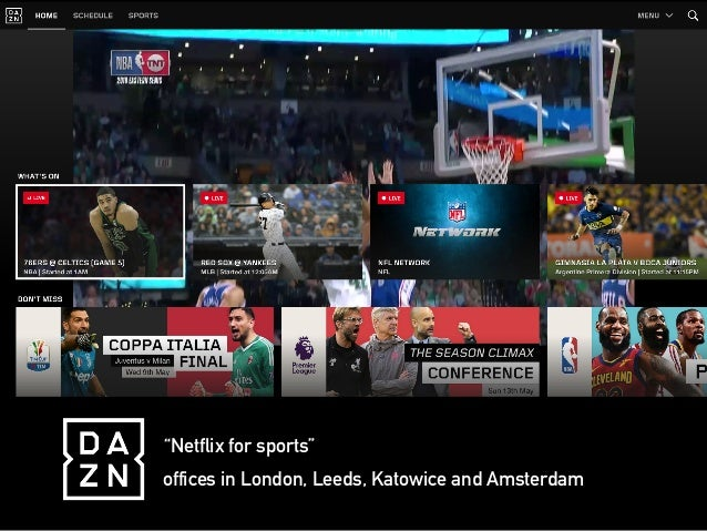 """""""Netflix for sports"""" offices in London, Leeds, Katowice and Amsterdam"""