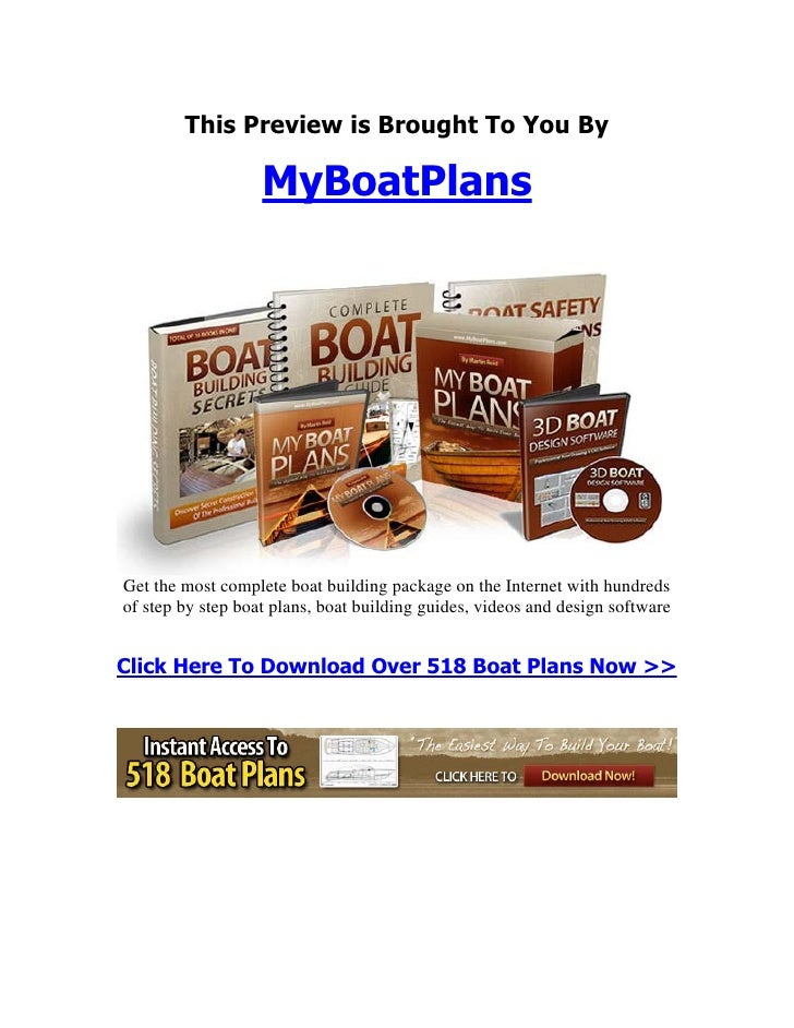 This Preview is Brought To You By                   MyBoatPlansGet the most complete boat building package on the Internet...