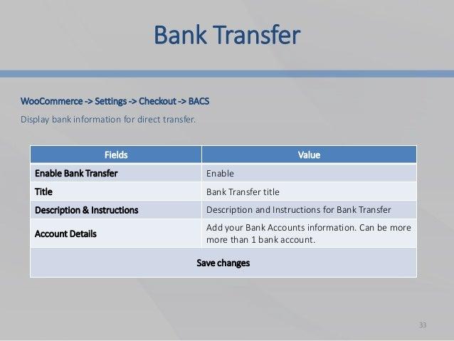 Bacs Bank Transfer