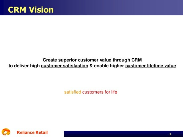 reliance retail mission vision goals objective Align business goals:  it should be a key objective of any business to have all interested parties buy in to its vision and mission and so help,.
