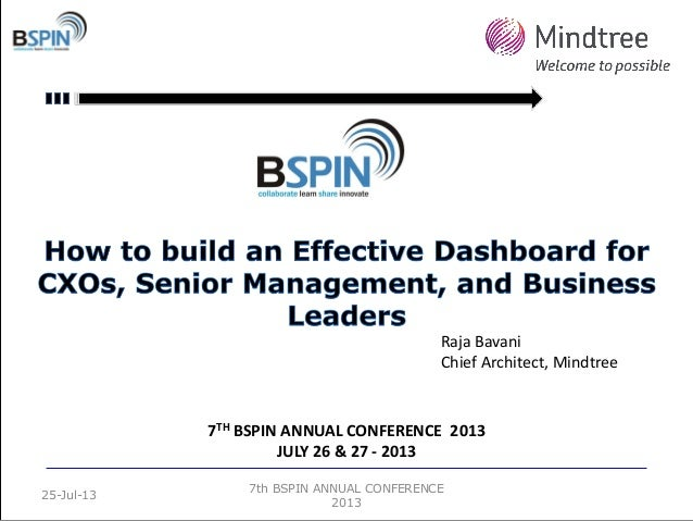 7th BSPIN ANNUAL CONFERENCE 2013 25-Jul-13 7TH BSPIN ANNUAL CONFERENCE 2013 JULY 26 & 27 - 2013 Raja Bavani Chief Architec...
