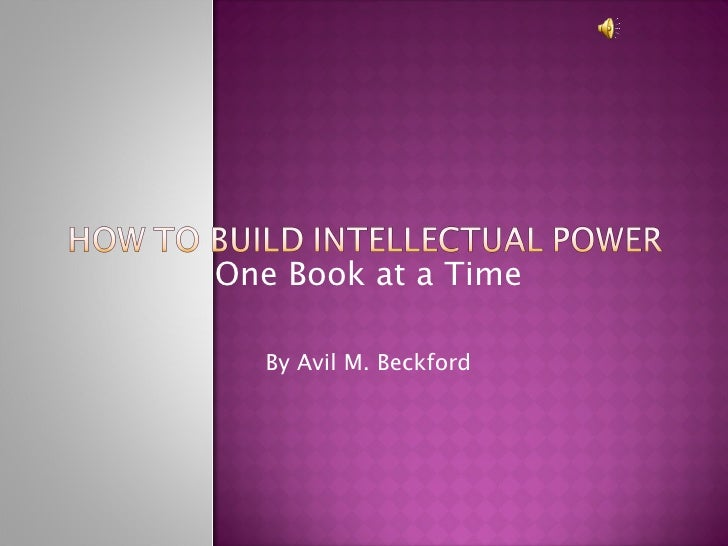 One Book at a Time By Avil M. Beckford