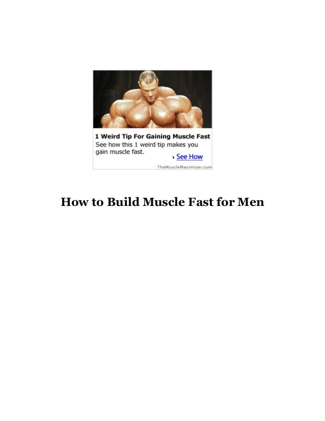 How to Build Muscle Fast for Men