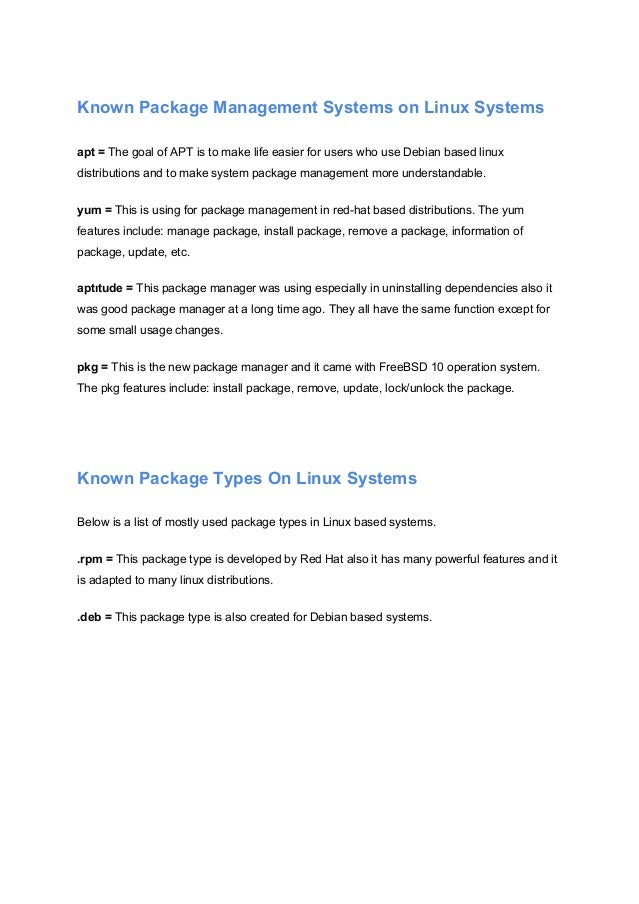 How to Build Package in Linux Based Systems