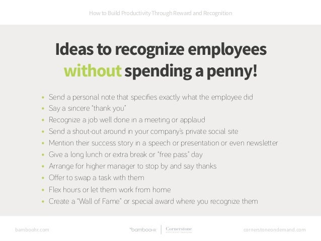 How to Build Productivity Through Reward and Recognition