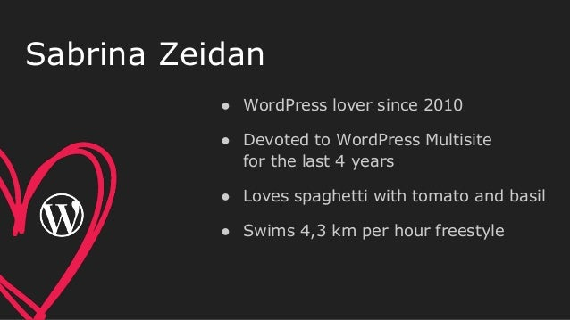 ● WordPress lover since 2010 ● Devoted to WordPress Multisite for the last 4 years ● Loves spaghetti with tomato and basil...