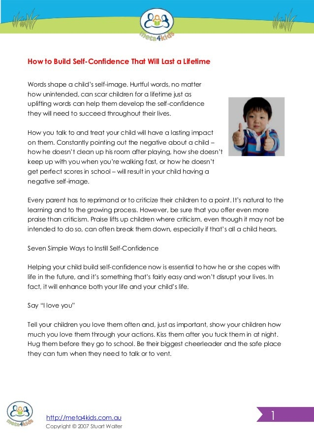 how to build self confidence pdf