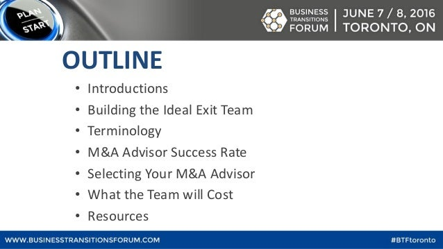 How to build the best exit team (& what it will cost) Slide 2
