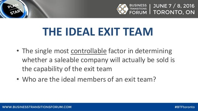 How to build the best exit team (& what it will cost) Slide 3