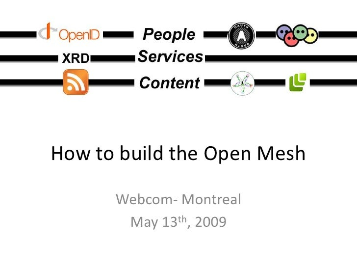 How to build the Open Mesh        Webcom- Montreal        May 13th, 2009