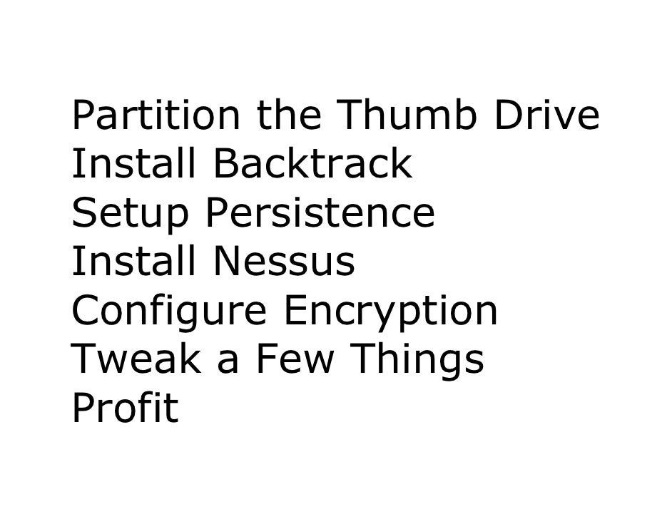 How To Build The Perfect Backtrack 4 Usb Drive