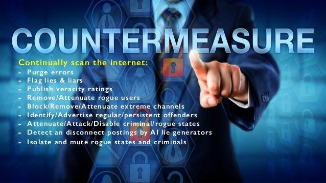 E X P L O I TAT I O N A new; powerful weapon of war Continually scan the internet: - Purge errors - Flag lies & liars - Pu...