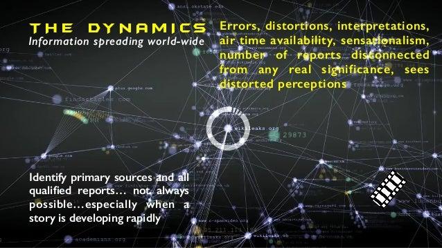 T H E DY N A M I CS Information spreading world-wide Errors, distortions, interpretations, air time availability, sensatio...