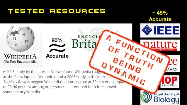 TESTED resources ≈ ≈ Accurate 80% ~ 45% Accurate A F U N C T I O N O F T R U T H B E I N G D Y N A M I C