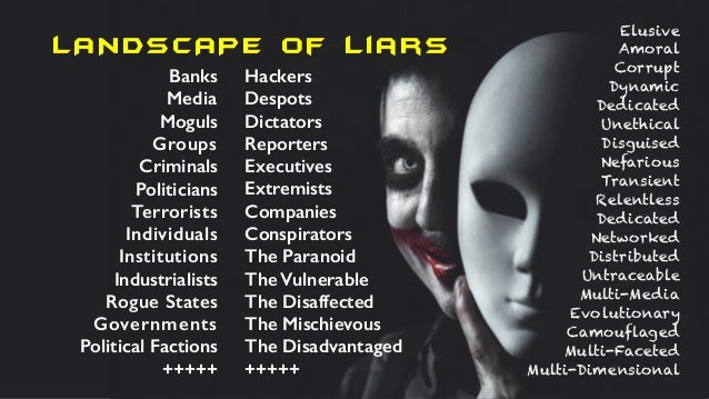 LANDSCAPE of liars Banks Media Moguls Groups Criminals Politicians Terrorists Individuals Institutions Industrialists Rogu...