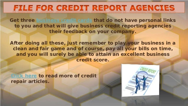 How to build your business credit score 10 get three business credit cards that do not have personal reheart Images