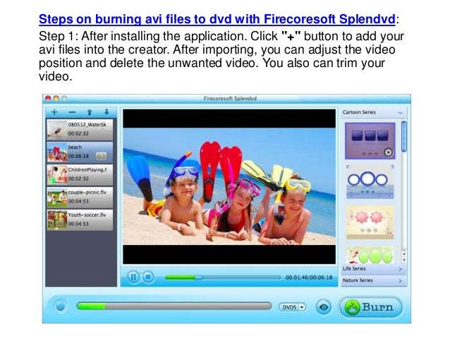 how to copy avi files to a dvd