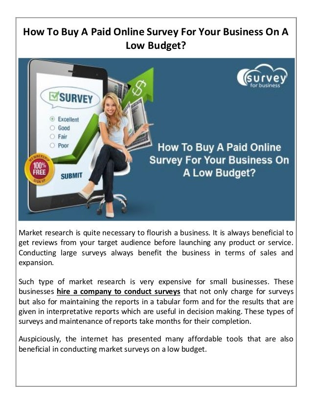 how to buy a paid online survey for your business on a low budget