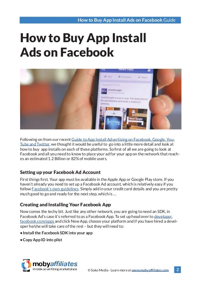 How to Buy App Install Ads on Facebook
