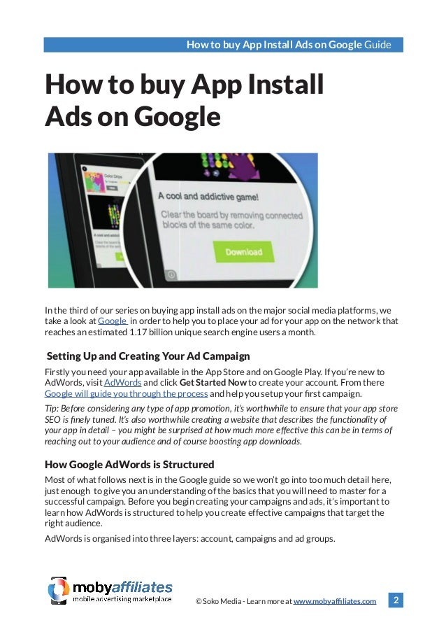 How to Buy App Install Ads on Google