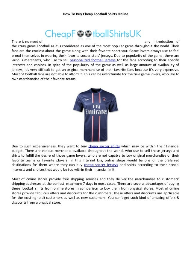 free shipping f4115 616f0 How to buy cheap football shirts online